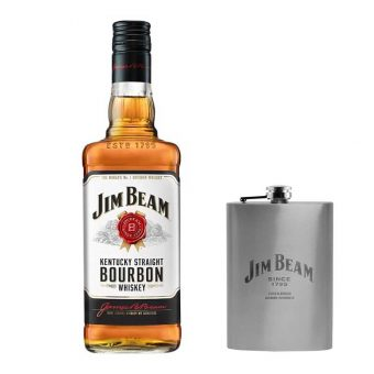 WHISKEY JIM BEAM WHITE 4 AÑOS 750 ml. + ANFORITA