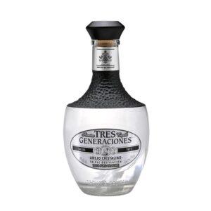 Tequila 3 Generaciones Añejo Cristalino 750 ml.