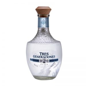 Tequila 3 Generaciones Plata 750 ml.