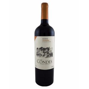 VINO TINTO LAS CONDES RESERVA CARMENERE 750 ml.