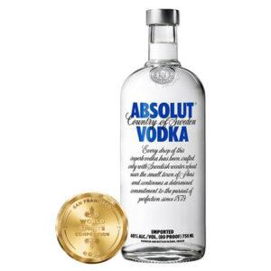 Vodka Absolut Original Azul 750 ml.