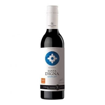 Vino Tinto Santa Digna Merlot 375 ml.