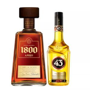 TEQ. CUERVO 1800 AÑEJO 700 ml. + LICOR 43