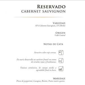 CONCHA Y TORO RESERVADO CABERNET SAUVIGNON