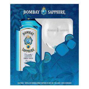 GINEBRA BOMBAY SAPPHIRE 750 ml. + COPA
