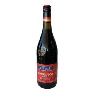 VINO TINTO DELL´EMILIA CA DI VALLE LAMBRUSCO 750 ml.