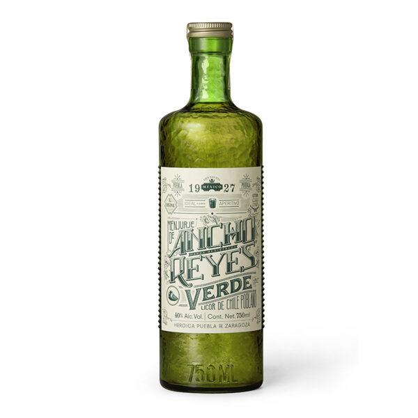 LICOR ANCHO LOS REYES DE CHILE POBLANO VERDE 750 ml.