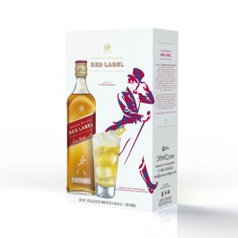 WHISKY JOHNNIE WALKER RED LABEL 700 ml. + VASO HIGHBALL