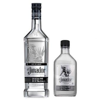 TEQUILA EL JIMADOR CRISTALINO 700 ml. +TEQUILA EL JIMADOR CRISTALINO 200 ml. .jpg