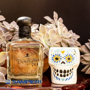 Tequila Don Julio 70 Añejo Cristalino 700 ml. + Vaso Calavera