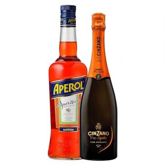 LICOR APEROL 700 ml. + CINZANO SPRITZ 750 ml.