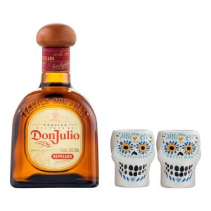 TEQUILA DON JULIO REPOSADO 700 ml. + 2 CABALLITOS