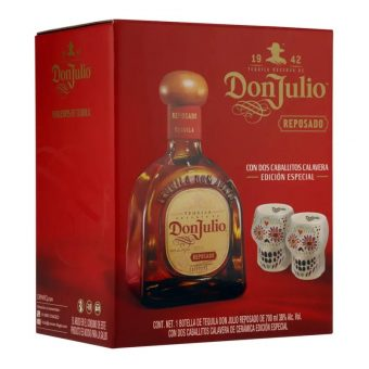 TEQUILA DON JULIO REPOSADO 700 ml. + 2 CABALLITOS