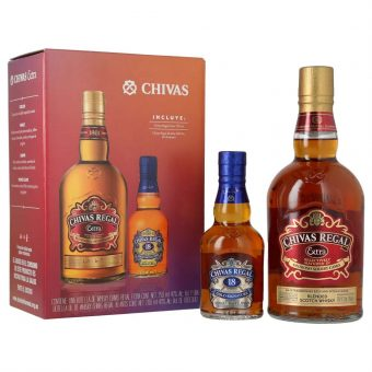 WHISKY CHIVAS REGAL EXTRA 750 ml.+ CHIVAS REGAL 18 AÑOS 200 ml.