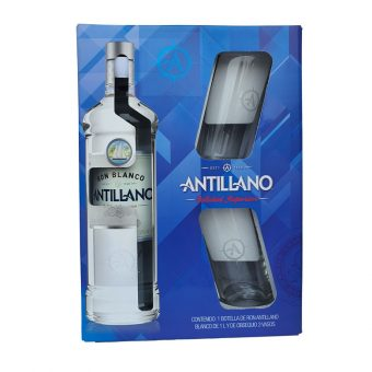 RON ANTILLANO BLANCO 1000 ml. + 2 VASOS