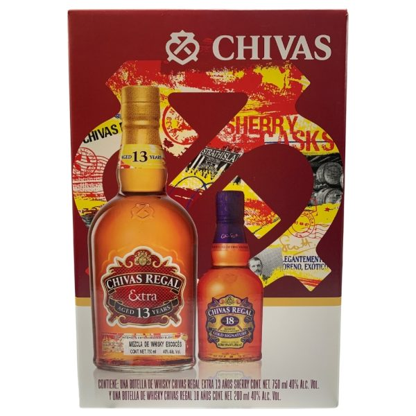 Whisky Chivas Regal Extra Sherry 750 ml. + Chivas Regal 18 Años 200 ml.