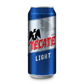 CERVEZA TECATE LIGHT LATA 473 ml.