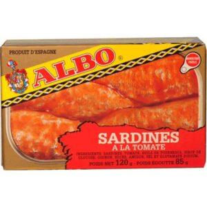SARDINAS EN TOMATE ALBO 120 gr.
