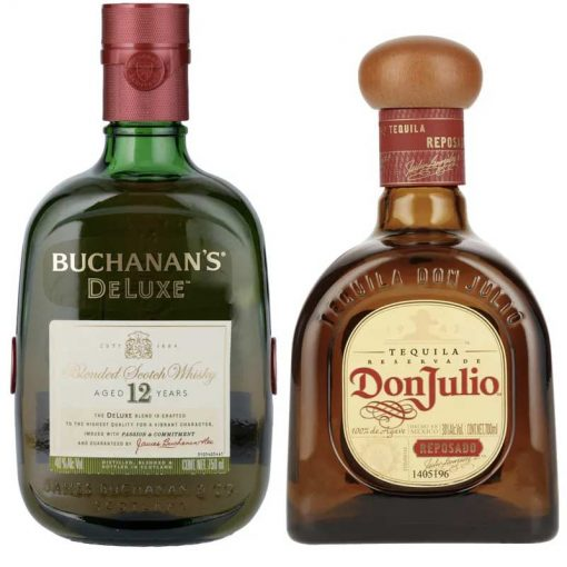 WHISKY BUCHANAN´S 12 AÑOS 750 ml. + DON JULIO REPOSADO 700 ml.