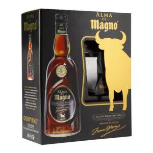 BRANDY ALMA DE MAGNO 700 ml. + VASO