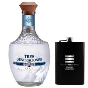 TEQUILA 3 GENERACIONES PLATA 750 ml. + ANFORITA