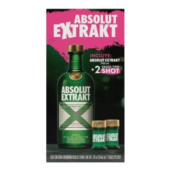 VODKA ABSOLUT EXTRAKT + 2 SHOTS
