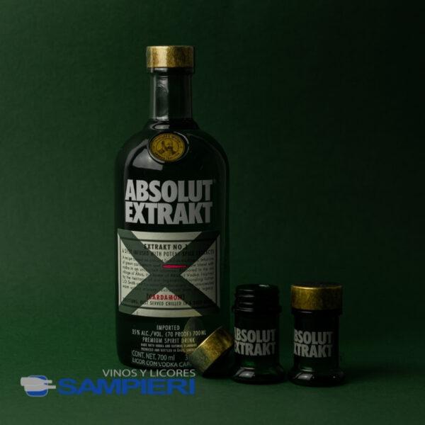 Vodka Absolut Extrakt 700 ml. + 2 Vasos Shot