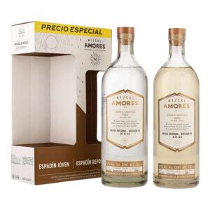 MEZCAL AMORES ESPADIN JOVEN 750 ml. + ESPADIN REPOSADO 750 ml.
