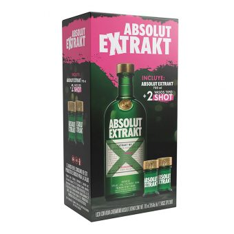 VODKA ABSOLUT EXTRAKT 700 ml.+ 2 SHOTS