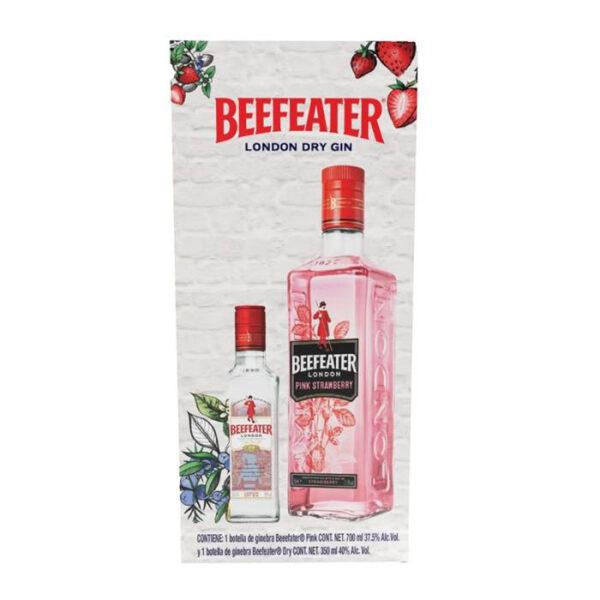 GINEBRA BEEFEATER PINK 700 ml. + BEEFEATER 375 ml.
