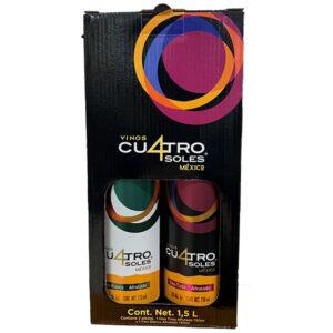 VINO TINTO CUATRO SOLES AFRUTADO 750 ml. + BLANCO AFRUTADO 750 ml.