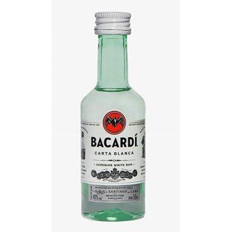 RON BACARDI BLANCO 50 ml.