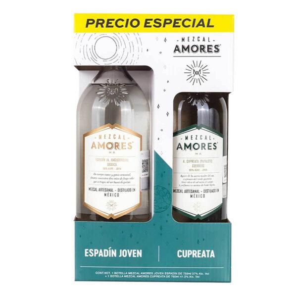 MEZCAL AMORES ESPADIN JOVEN 750 ml. + CUPREATA 750 ml.