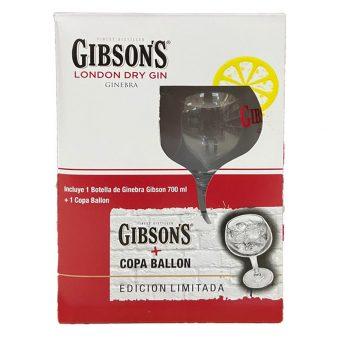 Ginebra Gibsons 700 ml. + Copa