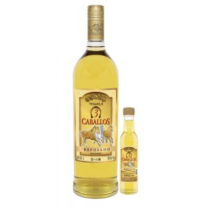 Tequila Tres Caballos Reposado 1000 ml. + 250 ml.