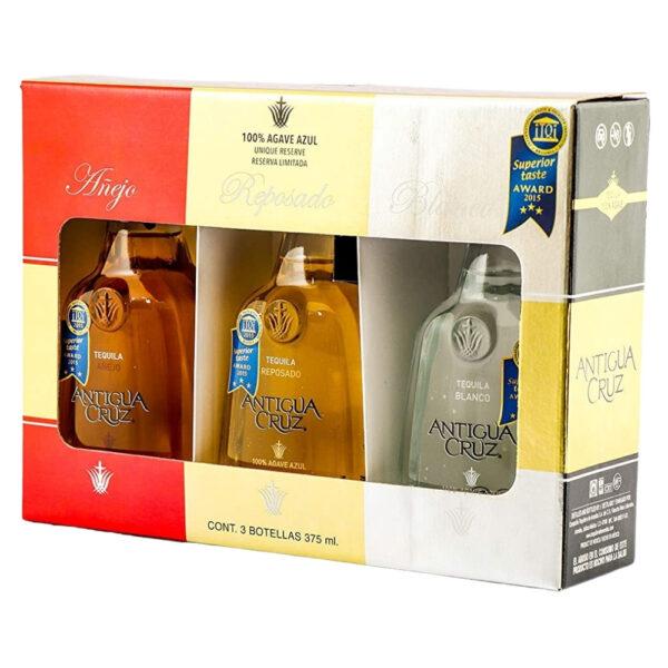 Tequila Antigua Cruz TriPack 375 ml.