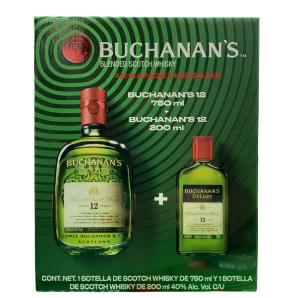Whisky Buchanans 12 Años 750 ml. + 200 ml.