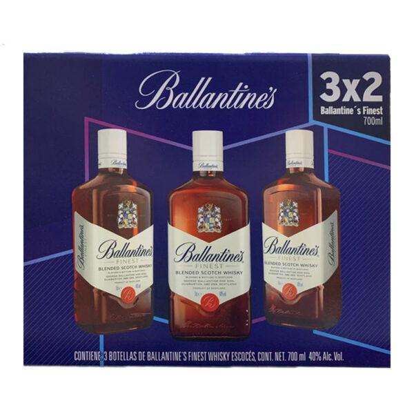 3x2 Whisky Ballantines Finest 700 ml.