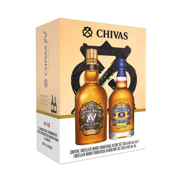 Whisky Chivas Regal XV Años 700 ml. + Chivas Regal 18 años 500 ml.