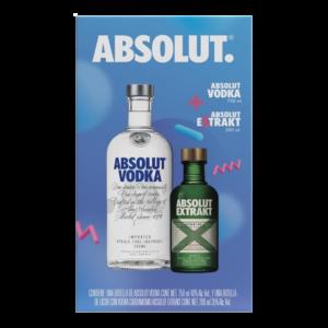Vodka Absolut Original Azul 750 ml. + Absolut Extrakt 200 ml.