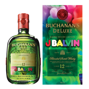 Whisky Buchanans 12 Años Edición J Balvin 750 ml.
