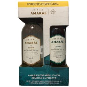 Mezcal Amarás Espadin Joven 750 ml. + Cupreata 750 ml.