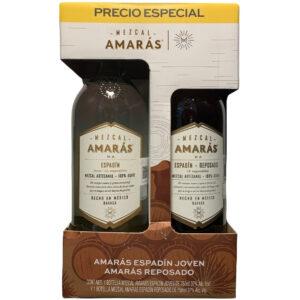 Mezcal Amarás Espadin Joven 750 ml. + Reposado 750 ml.