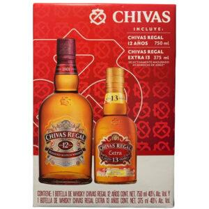 Whisky Chivas Regal 12 Años 750 ml. + Chivas Regal Extra 13 años 375 ml.